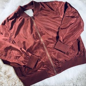 Angel Kiss Red Bomber Jacket